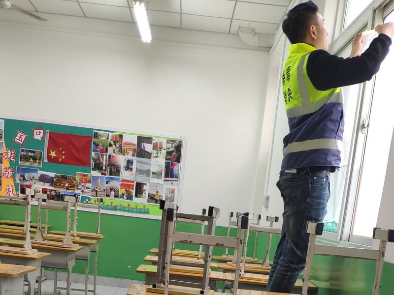 济南营东小学教室消毒、杀菌案例