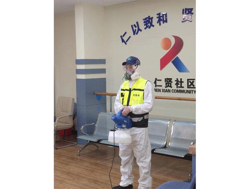 山东省济南市中区七贤街道仁贤社区消毒案例