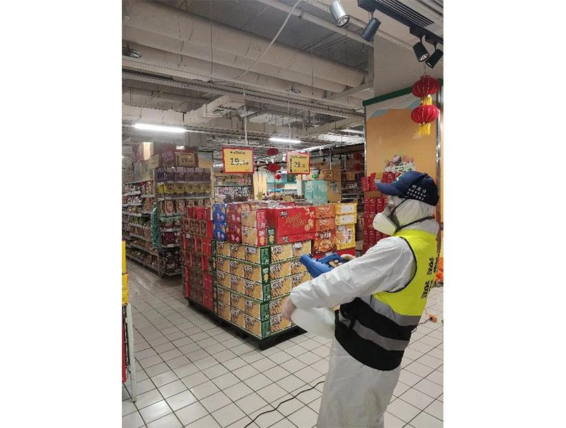济南家家悦超市消毒杀菌案例