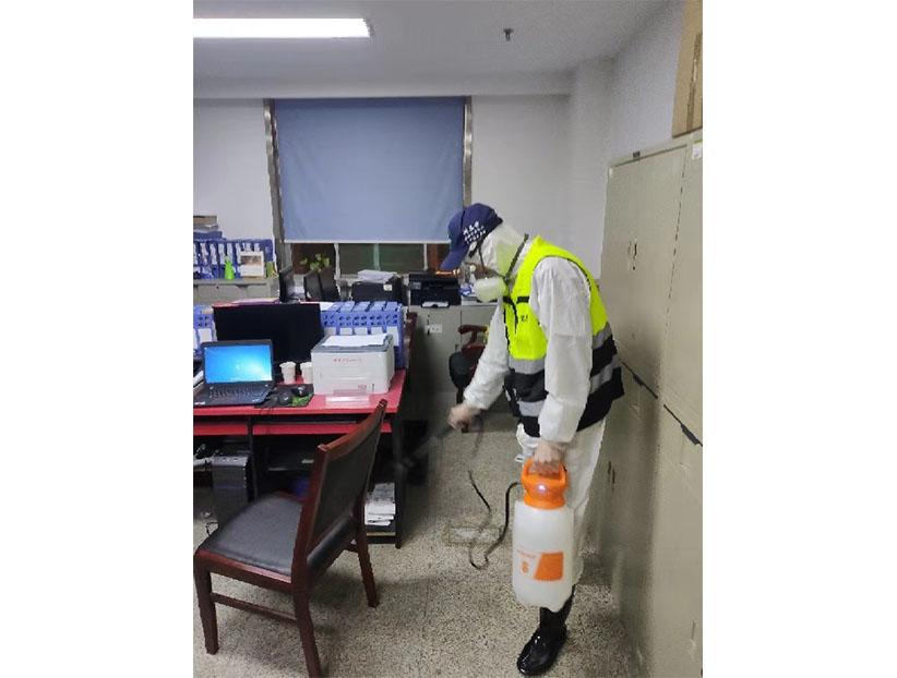 济南高新区卫健委防控指挥部消毒案例